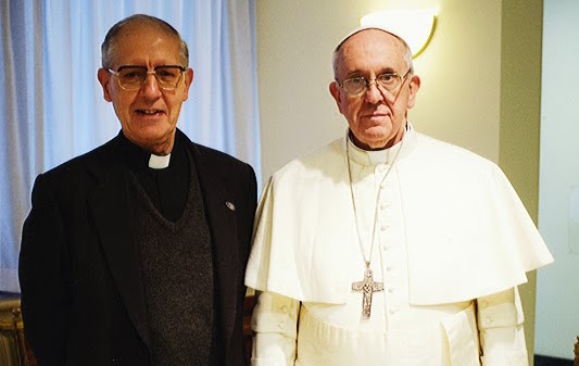 Pope Francis and Black Pope Adolfo Nicolas